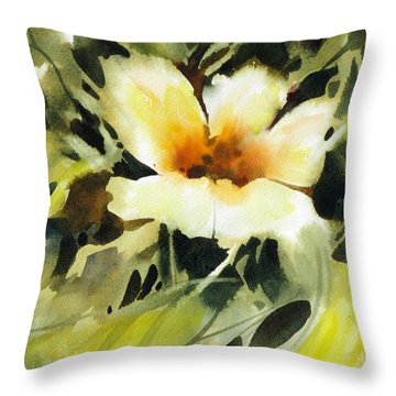 Throw Pillow featuring the painting Glimpse by Rae Andrews
