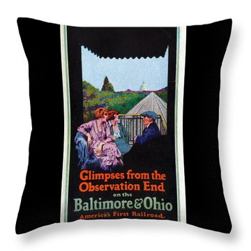 Glimpses From The Observation End Throw Pillow