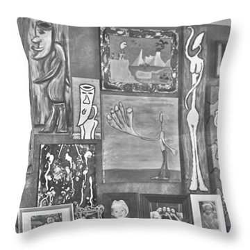 Glimpses Of Where Art Lives 4 Throw Pillow