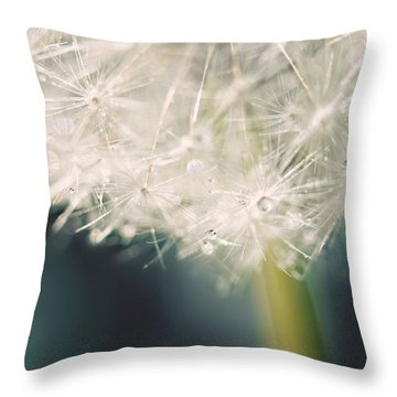 Throw Pillow featuring the photograph Glisten by Amy Tyler