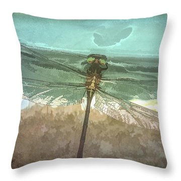 Glistening In Nature Throw Pillow