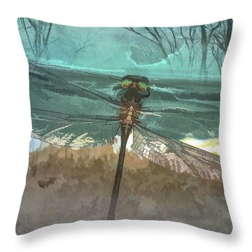 Glistening In The Forest Throw Pillow