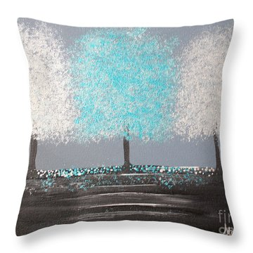 Glistening Morning Throw Pillow
