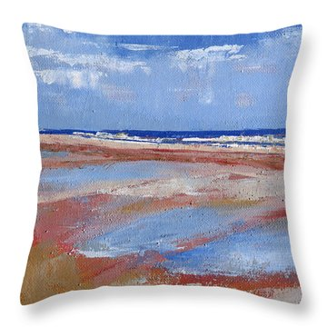 Glistening Plum Island Tides Throw Pillow by Trina Teele