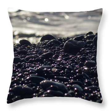 Glistening Rocks Throw Pillow