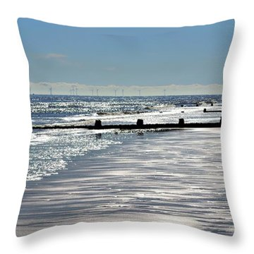 Glistening Shore Throw Pillow