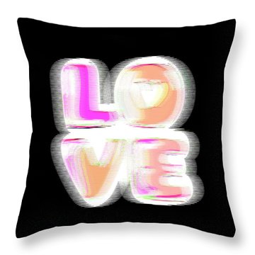 Glitch In Black Throw Pillow