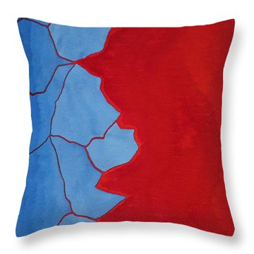 Glitch In The Matrix Original Painting Throw Pillow