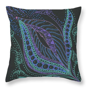 Glitter Flower Throw Pillow