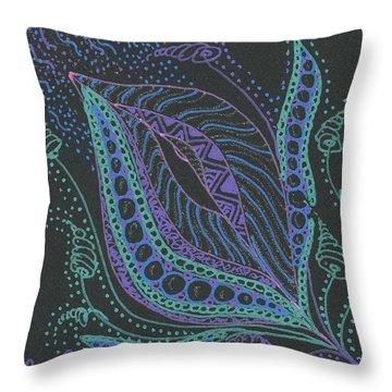 Glitter Flower Throw Pillow