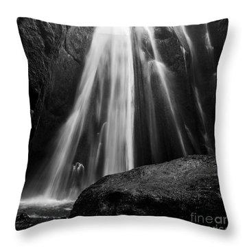 Gljufrabui Iceland Throw Pillow
