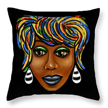 Glo Abstract Throw Pillow