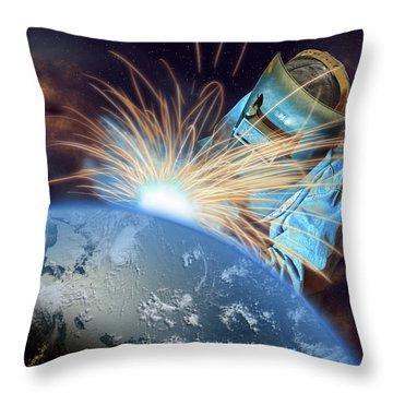 Global Meltdown Throw Pillow