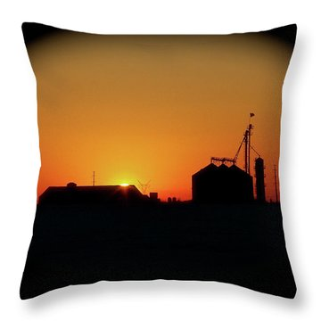 Global Sunset Throw Pillow by Sue Stefanowicz