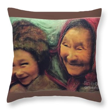 Global World Of Love And Compassion Throw Pillow