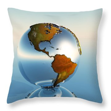 Globe Throw Pillow by Corey Ford