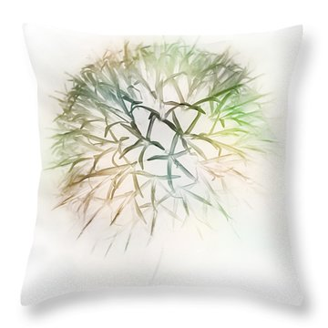 Globe Thistle Throw Pillow by John Poon