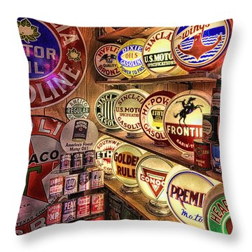 Globes Of The Past Throw Pillow
