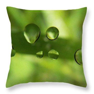Globules Throw Pillow