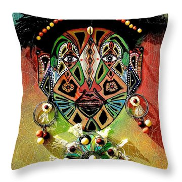 Glocal Child Throw Pillow