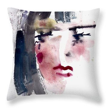 Gloomy Woman  Throw Pillow