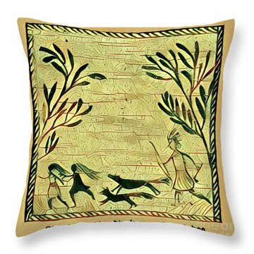 Glooscap And The Witches Throw Pillow