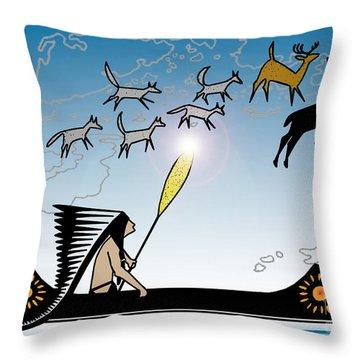 Glooscap Creates The West Isles Throw Pillow