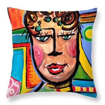 Gloria - Vivid Vixen 7 Throw Pillow