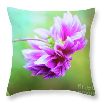Glorious Autumn Dahlia Throw Pillow