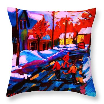 Glorious Day For A Game Throw Pillow by Carole Spandau