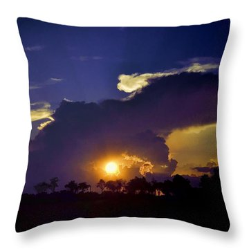 Throw Pillow featuring the photograph Glorious Days End by Jan Amiss Photography