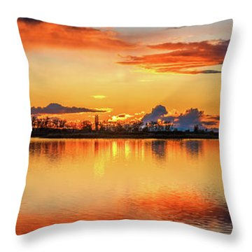 Throw Pillow featuring the photograph Glorious Evening by Robert Bales