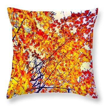 Glorious Foliage Throw Pillow