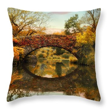Throw Pillow featuring the photograph Glorious Gapstow   by Jessica Jenney