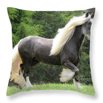 Glorious Girl Silver Reign Throw Pillow