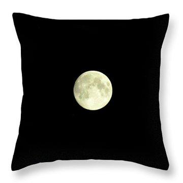 Glorious Moon  Throw Pillow by Danielle  Parent