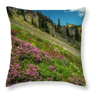 Glorious Mountain Heather Throw Pillow
