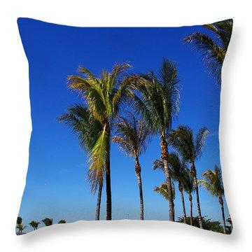 Glorious Palms Throw Pillow by Zalman Latzkovich