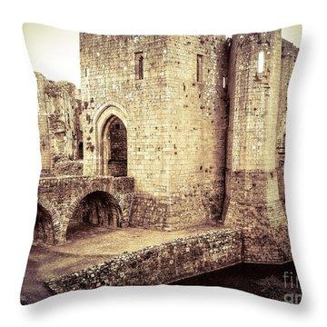 Glorious Raglan Castle Throw Pillow