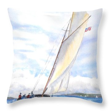 Glorious Sail Throw Pillow