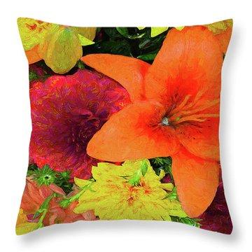 Glorious Summer Colors Throw Pillow