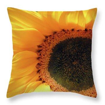 Glorious Sunflower Throw Pillow
