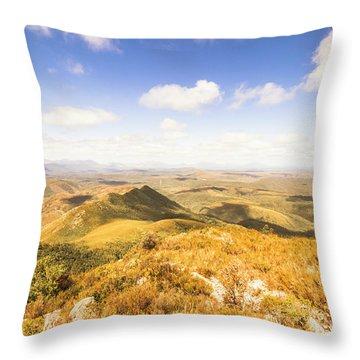 Glorious Tasmania Throw Pillow