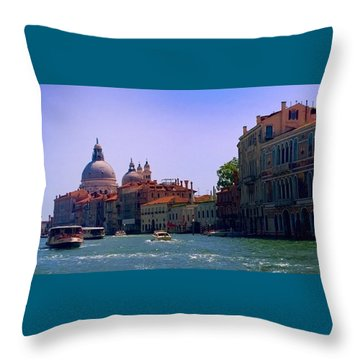 Throw Pillow featuring the photograph Glorious Venice by Anne Kotan