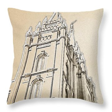 Glory And Majesty Throw Pillow by Greg Collins