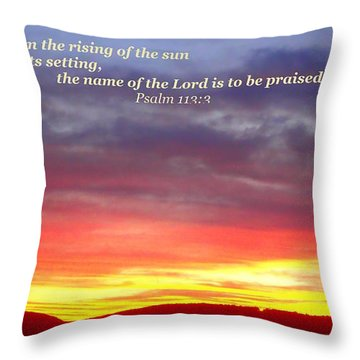 Glory And Praise  Throw Pillow