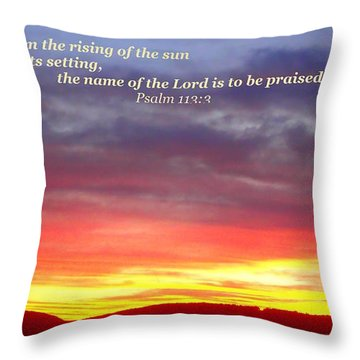 Glory And Praise  Throw Pillow