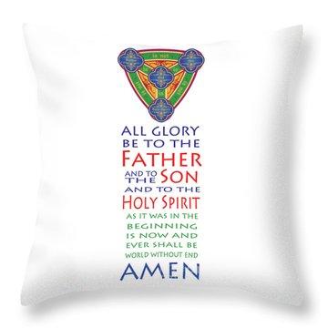 Glory Be Prayer Throw Pillow by Lawrence Klimecki