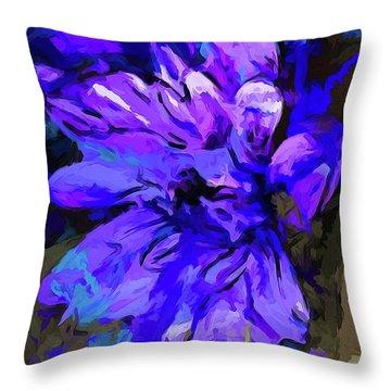 Glory Blue Throw Pillow