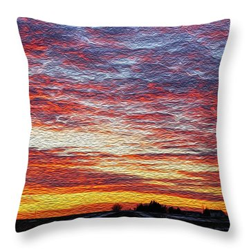 Glory Farming Throw Pillow